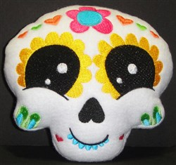 Sugar Skull Softie 1 embroidery design