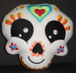 Sugar Skull Softie 3 embroidery design