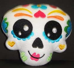Sugar Skull Softie 4 embroidery design