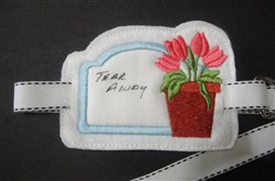 Stabilizer Label F embroidery design