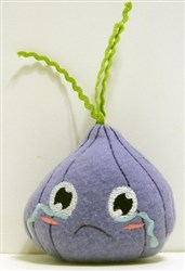 Shallot Stuffed Baby Rattle embroidery design