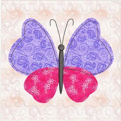ITH Butterfly Quilted Block embroidery design
