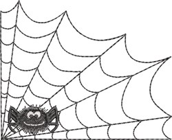 Spider Web & Spider 3 embroidery design