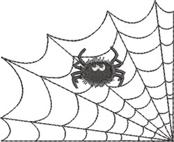 Spider Web & Spider 4 embroidery design