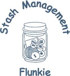 Stash Management Flunkie embroidery design