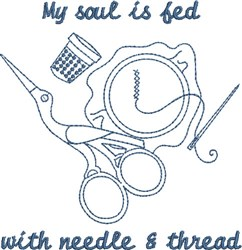My Soul is Fed embroidery design