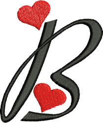 Sweetheart B embroidery design