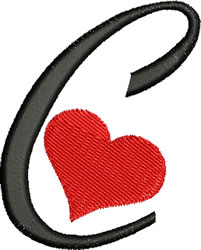 Sweetheart C embroidery design