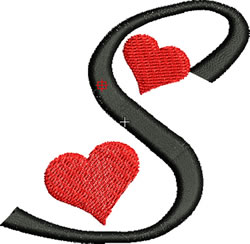 Sweetheart S embroidery design