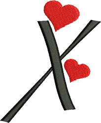 Sweetheart X embroidery design