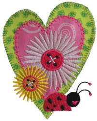 Sew Ladybug Applique embroidery design