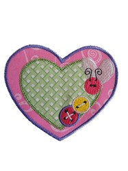Sew Cute Applique Hearts & Buttons embroidery design