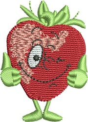 Winking Strawberry embroidery design