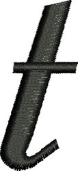 Lower Case t embroidery design