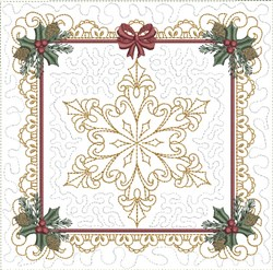 ITH Crystal Snowflake Quilt Block embroidery design