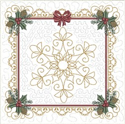 ITH Delicate Snowflake Quilt Block embroidery design