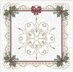 ITH White Christmas Quilt Block embroidery design