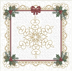 ITH Christmas Joy Quilt Block embroidery design