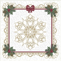 ITH Unique Snowflake Quilt Block embroidery design