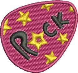 Rock Guitar Pick embroidery design