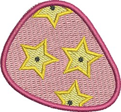Star Flowers Guitar Pick embroidery design