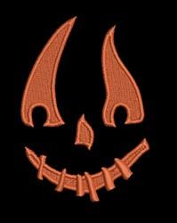 Jack O Lantern Face embroidery design