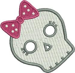Girls Rock Skull embroidery design