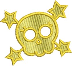 Star Rock Skull embroidery design