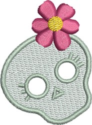 Skull with Flower embroidery design