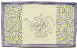 Tea Pot & Cups Mug Mat embroidery design