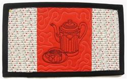 Pretty Tea Mug Mat embroidery design