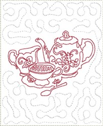 Stipple Tea Service Mat embroidery design