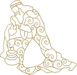Praying Wiseman embroidery design