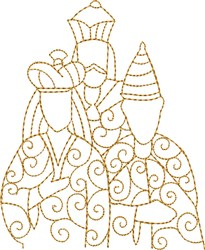 We Three Kings embroidery design