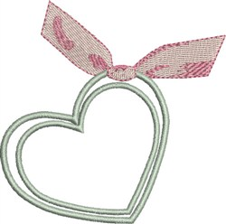 Hearts and Ribbon embroidery design
