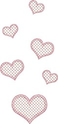 Floating Hearts embroidery design