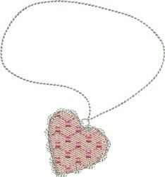 Heart Pendant embroidery design
