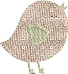 Sweetheart Birdie embroidery design