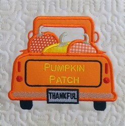 ITH Vintage Fall Truck Quilt Block 3 embroidery design