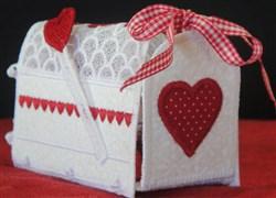 FSL & Applique Valentine Mail Box embroidery design
