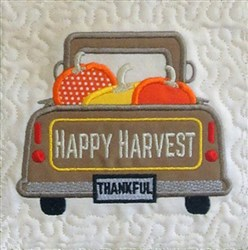 ITH Vintage Fall Truck Quilt Block 1 embroidery design