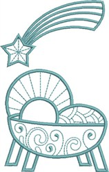 Manger and Star embroidery design