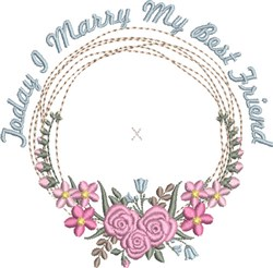 Ring Bearer Pillow Wreath 1  embroidery design