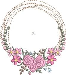 Ring Bearer Pillow Wreath 3 embroidery design