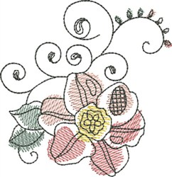 Watercolor Flower embroidery design