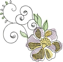 Watercolor Blossom embroidery design