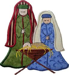 Nativity Applique embroidery design