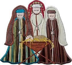 Wise Men Applique embroidery design