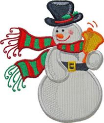 Applique Snowman Bell embroidery design