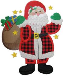Gift Santa Applique embroidery design